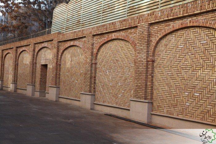 تکمیل جدارهسازی پیادهراه حرمخانه توسط شهرداری منطقه ۸