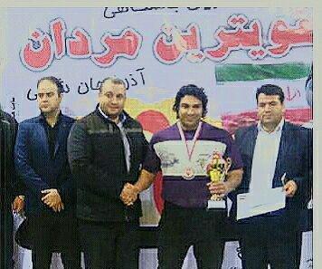 کسب مقام سوم مسابقات یبن باشگاهی قویترین مردان استان توسط کارمند شهرداری