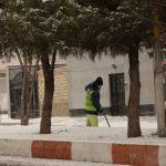 تلاش شبانه روزی و بی وقفه اکیپ های خدماتی از اولین ساعات شروع بارش برف