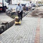 کف سازی و جدولگذاری خیابان بارون آواک توسط شهرداری منطقه ۴