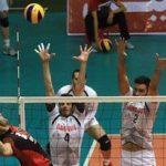 پیروزی والیبال شهرداری تبریز برابر کاله مازندران