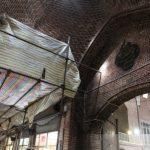 مرمت و جدارهسازی قیزبستی بازار در آستانه تکمیل است