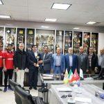 تجلیل مدیرعامل سازمان ورزش شهرداری تبریز از قهرمانان لیگ برتر شیرجه کشور