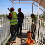 رنگ آمیزی پل های عابر پیاده واقع در جاده تبریز –آذرشهر