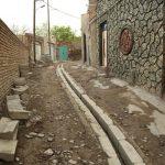 عملیات جدول گذاری ،ساماندهی و اصلاح آبروها در کوچه شهید نامور رواسان