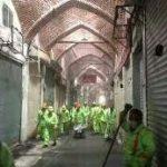 اجرای گسترده طرح تنظیف و پاکسازی بازار تاریخی تبریز