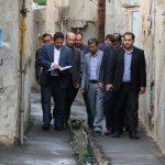 """شهردار تبریز از روند اجرای طرح ساماندهی محله """"چوخورلار"""" تبریز بازدید کرد"""
