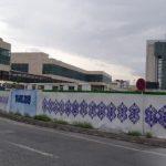 نقاشی دیواری حصار های کارگاهی در میدان شهید بهشتی