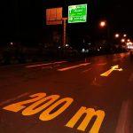 اجرای طرح علائم ترافیکی و فلش با رنگ دوجزئی در حد فاصل پل سرداران فاتح تا میدان جهاد