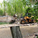 قلمع و قمع ساخت وسازهای غیرمجاز در مسیر مهرانه رود/ ۶ کیلومتر آزادسازی شد