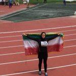 نخستین مدال دو و میدانی قهرمانی آسیا برای دختران ایرانی