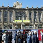 """استقبال شهروندان تبریزی از نمایشگاه """"جام جنایی غزه"""""""