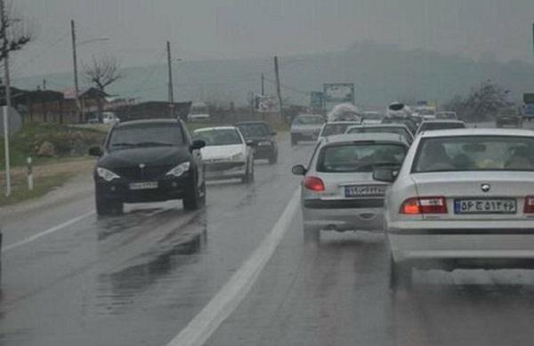 ترافیک سنگین در جادههای منتهی به شمال کشور