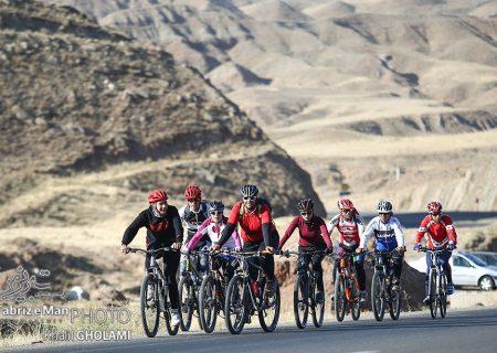 دومین مرحله لیگ برتر دوچرخه سواری در تبریز