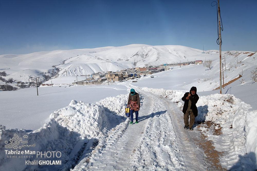 طبیعت زمستانی و مردم روستای چاخماق بولاق