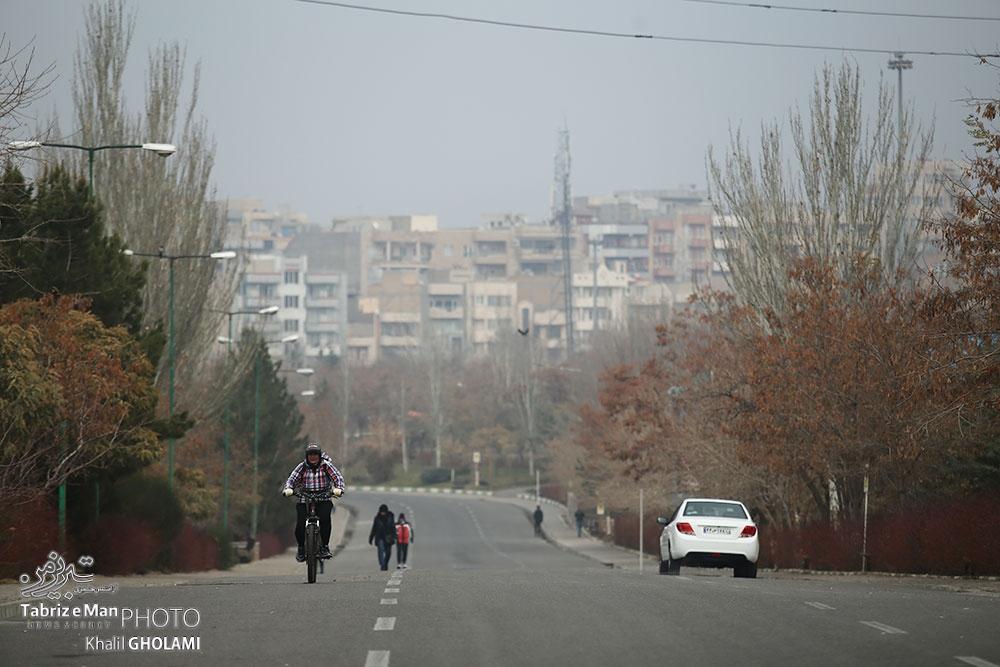 روزهای سرد آلوده کرونایی تبریز